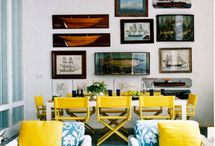 Blue and Yellow Lounge Room
