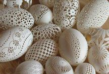 Carved & Etched eggs