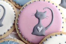 Sablés décorés chat