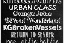 tipografias pizarra
