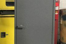 Evraz RM Steel - Pueblo, CO #Lockers #DeBourgh / #Corregidoor #GrayHammertone #SpecialtyColor #SentryOneLatch #LouveredVentilation #PianoHinge #SlopeTop #Lockers #DeBourgh