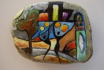 Africa painted rocks