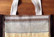 bags borse / borse fatte a mano unendo batik su seta, tessitura e feltro