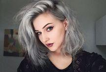 Gray hair/ pelo platinado / Beauty hair.