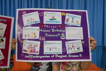 "eTwinning ""Α Birthday Card for Rebeca / Συνεργατικό πρόγραμμα eTwinning ""Α Birthday Card for Rebeca"