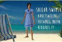 Sims 2 Clothing- Swim