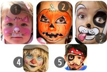Kids halloween facepaint
