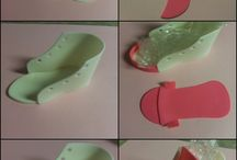 dekorgumi cipő készítés