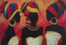 cuadros africanas