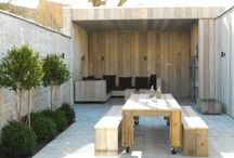 Courtyards and small gardens / Inspiration and ideas for Chateau Elliot -  to create a garden that complements the rustic cottage , something pretty, shady with somewhere to read , unwind and entertain.....