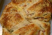 pão de azeitonas e ervas