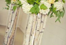 dekoracje z kwiatów i drzewek