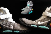 Marty McFly Nike Air Mags Baby Shoes, Back to the Future, Baby Nike Knitted Slippers, Baby Nike Mag, Baby Crochet Slipper Bootees, Handmade