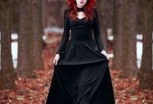 赤毛×黒ファッション