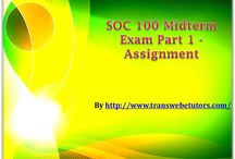 SOC 100 Midterm Exam Part 1 Assignment