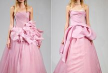 Wedding Gowns: Pink Bridal Gowns / PInk and Blush wedding gowns for the bride who dares to be different