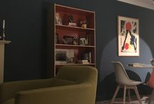 My living room project / I wanted something contemporary that would work in a mid 80's build house