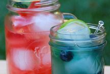 Adult Beverages in Mason Jars / Refreshing Cocktails in Mason Jars