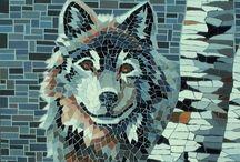 mosaique loup océane