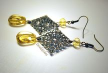 Earrings by beads and wires