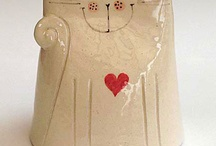 Ceramic cat ornaments