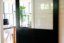 Baie vitrée portes