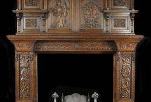 antik şömine