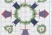 obrusy cross stitch
