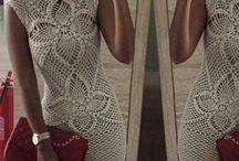 Szydełkowe suknie. Crochet dresses