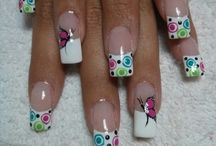 colorfull fench nails
