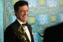 HBO's Post Award Reception / Stephen Colbert and Evelyn McGee-Colbert attend HBO's Annual Primetime Emmy Awards Post Award Reception at The Plaza at the Pacific Design Center on September 22, 2013 in Los Angeles, California. (Info:  http://bit.ly/19EFKdf) / by Colbert News Hub