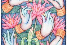 Yoga, mudras, yantras, mantras