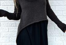 Sweaters: Tuxedo (longer in back)