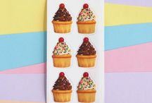 Cupcake Stationery and Stickers