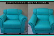 Fabricação de sofá infantil