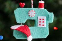 Ho ho ho sewing machine ornament