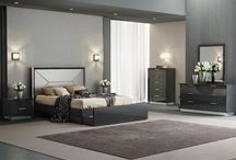 Modern Contemporary Collection Gray Bedroom Furniture
