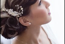 Wedding Hair & Accessories / Photos of hairstyles and hair accessories on brides and grooms.