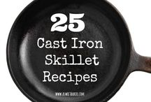 Cast Iron Skillet Cooking / Incredibly delicious meals, snacks and even desserts made in cast iron skillets!