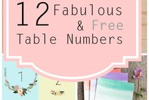 Table Numbers / Table number ideas for your wedding