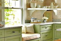 Kitchen and Dining ideas / cute, spacious or cozy clean kitchens are women-friendly!!