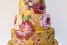 PAINTED CAKES & SUCH / Fascinated with painted cakes and wedding cakes!  Brings the art of custom cakes to a new level!