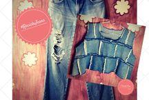 Recicla Jeans / Ideias para reciclar jeans! Transforme peças velhas em novas com essas ideias e aproveite para salvar o planeta!