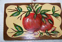 ζωγραφικη σε ξυλο