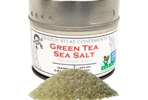 Green Tea Sea Salt Inspiration / Matcha Powder. Sweet, vibrant, and designed to add to fruits and ice cream - what else can you use it on?