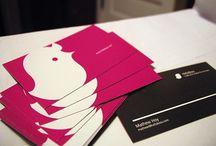 Qrious Lab.: Biz Card - pink