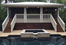 Pool House and Swimming Pool Idea K+B Builders Inc Tampa FL / New Pool House   http://www.KandB.Builders