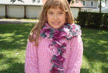 Back to school / Any school girl will like this  New style Ruffle scarf! / by designbyelena