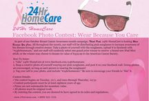 "Wear Because You Care! / 24Hr HomeCare is hosting Wear Because You Care in support of the fight against breast cancer this October. All throughout the month, our staff will be distributing pink sunglasses to increase awareness of the disease. Take a photo of yourself with the sunglasses and upload it to facebook (www.facebook.com/24hrhomecare) with ""#24hrhomecare"" to support the cause!"