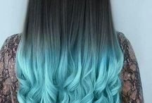 cabellos de colores hermosos